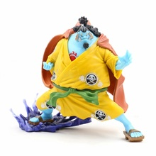 цена на One Piece yellow kimono Jinbe Anime Action Figure PVC New Collection figures toys Collection for Christmas