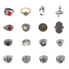 16style Game Dark Souls Ring leo Moon Dragon Tooth Hornet sterling ring crystal men women Jewelry(China)