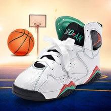 Girls Boys font b Basketball b font Shoes Kids Sneakers Shockproof Nonslip Breathable Children Sport Shoes