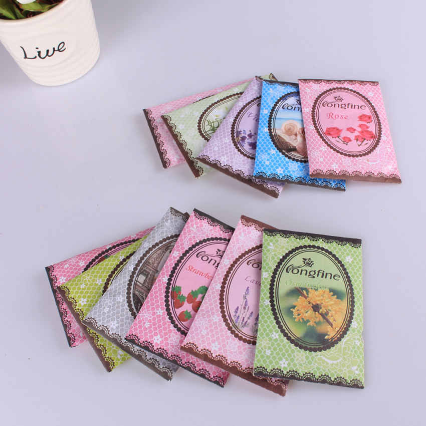 Home Fragrance Sachets mini Natural flowers sachet dehumidified air freshener for home car wardrobe Drawer freshener  sachet bag