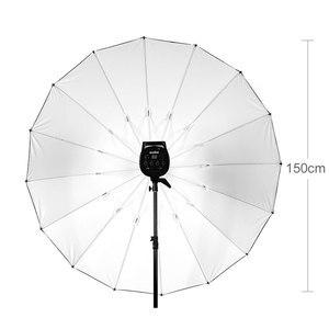 """Image 3 - GODOX Studio Photogrphy 60 """"150 cm czarny biały oświetlenie odblaskowe lekki parasol"""