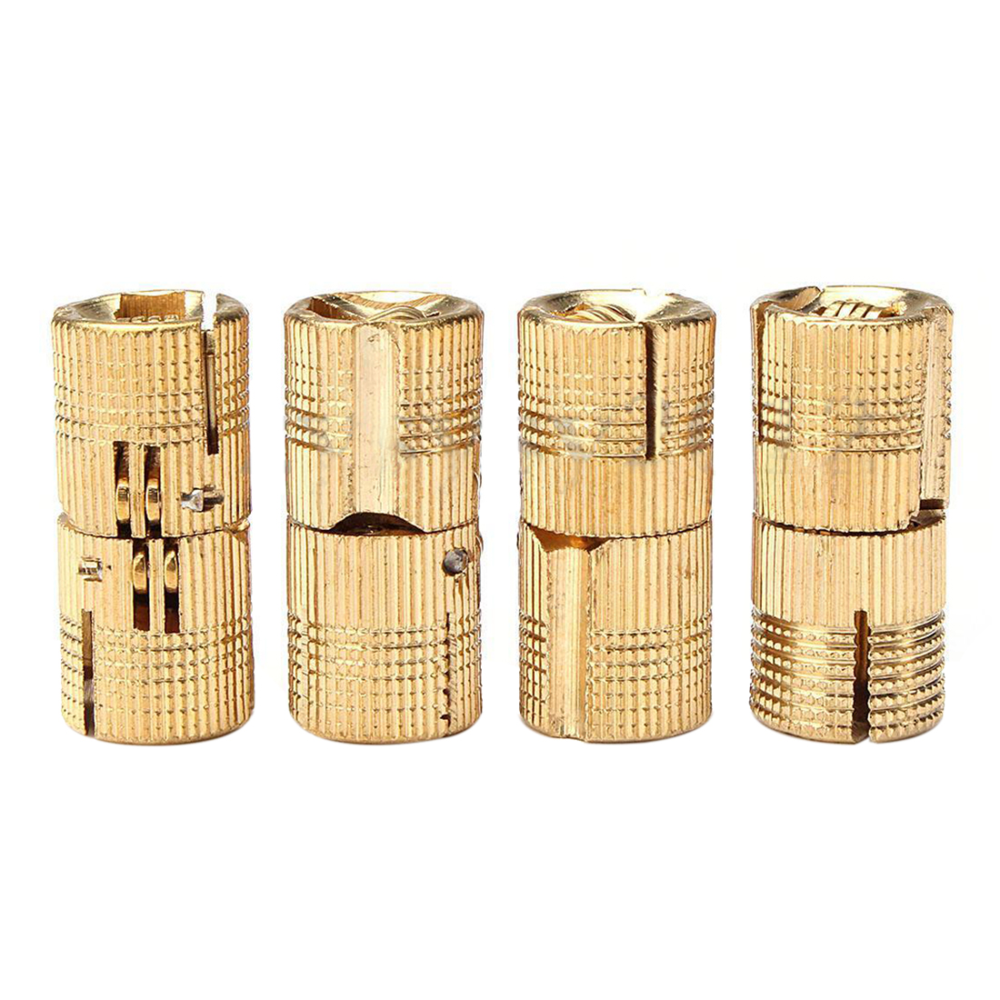 Aliexpress.com : Buy 4Pcs 12mm Brass Barrel Invisible Hinge for ...