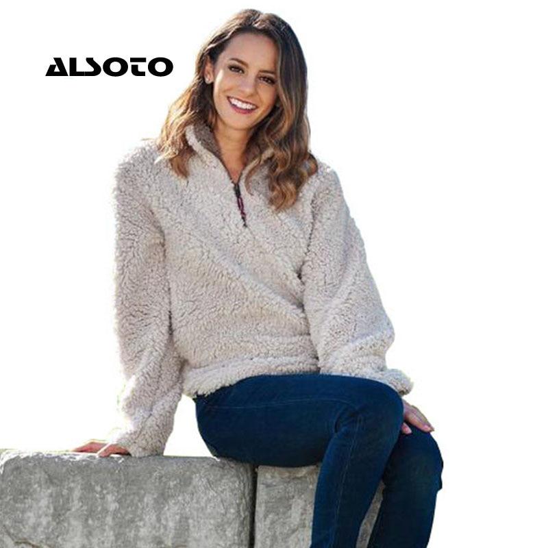 ALSOTO Fashion Sweater Women Warm Pullover Pull Femme Hiver Christmas Sweater European Winter Turtleneck