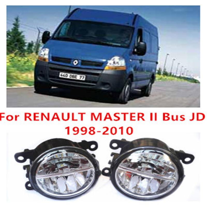 For RENAULT MASTER II Bus JD  1998-2010 Fog Lamps LED Car Styling 10W Yellow White 2016 new lights чехол для для мобильных телефонов apple iphone 4 4s 5 5s 5c 6 6plus suitable for i4 4s 5 5s 5c 6 6plus