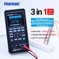 Hantek автомобильный осциллограф + мультиметр + генератор сигналов 3 в 1 портативный осциллограф USB 2 канала 40 МГц 70 МГц инструменты