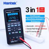 Hantek Oscilloscope automobile + multimètre + générateur de forme d'onde 3 en 1 oscilloscope portable USB 2 canaux 40mhz 70mhz outils