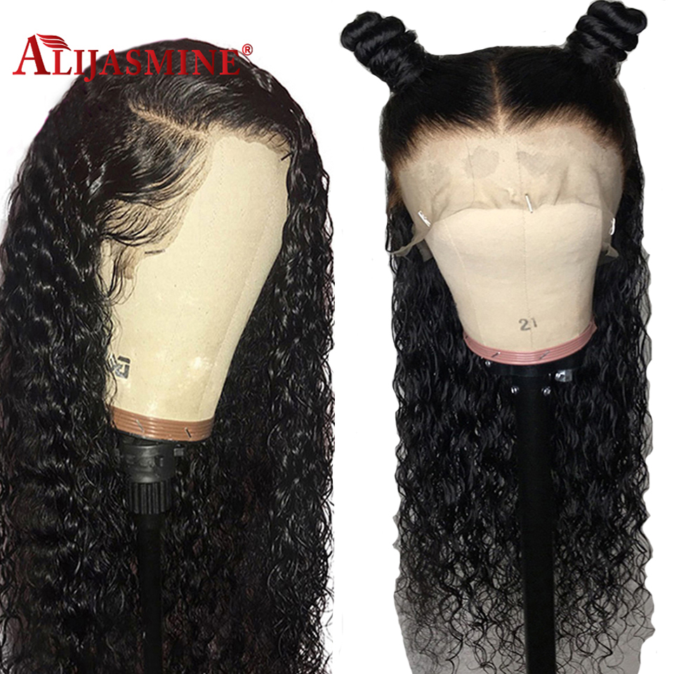 130 150 Density Peruvian Curly Lace Front Human Hair Wigs Pre Plucked With Baby Hair Lace