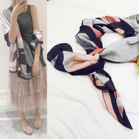 High Quality Silk Scarf Women Or Men Perfect Silk Shawl Solid Color Stole Cozy Accessory Valentine