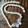 Moda collar de perlas de agua dulce naturales de alta calidad mariposa rhinestone choker collar para las mujeres del partido de la joyería