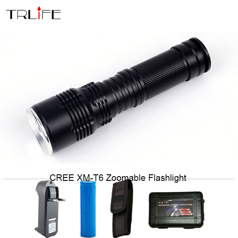 6000 Lumens CREE XM-T6 Zoomable 5 Modes LED Flashlight Tactical Lantern Waterproof Torch Camping Flash Light for 26650/18650/AAA 3000 lumens zoomable cree xm l t6 led tactical flashlight torch zoom lamp light waterproof led 5 modes for 1x18650 3xaaa