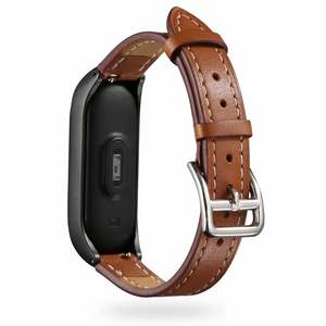 Wrist-Strap Mi-Band Genuine-Leather 3-Bracelet High-Quality for Xiaomi