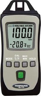 Tenmars TM-730 Pocket Size Thermometer and Hygrometer Meter tm 750 mini pocket solar power meter