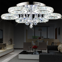 Modern Crystal Chandelier Living Room Lustres De Cristal Decoration Luminaire Chandeliers Lighting Restaurant Dining Room Lamp