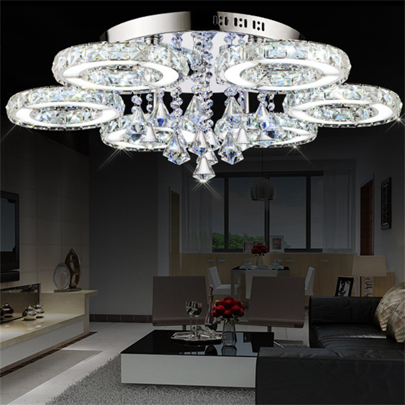 Modern Crystal Chandelier Living Room lustres de cristal Decoration luminaire Chandeliers lighting restaurant dining room lamp modern new k9 modern crystal lustres de cristal decoration chandeliers and pendants silver gold 6 8 15 18 arms for living room