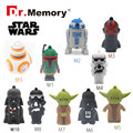 2016 usb flash drive Star wars pen drive 32g pendrive 16g R2D2 bb8 Darth Vinda 8g 4g Maul Bounty Hunter Usb2.0 usb stick drive