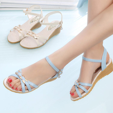Dwayne Shoes Women For Gladiator Sandals Summer 2019 Flat With Heel Bottom Wedges Ladies Roman