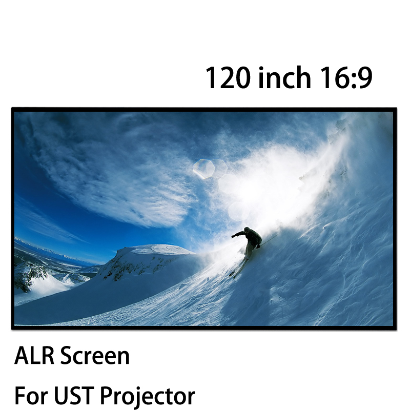 Ultra Thin Bezel 120 16 By 9 Fixed Frame Projection Screens ALR Screen For Xiaomi Laser Projector