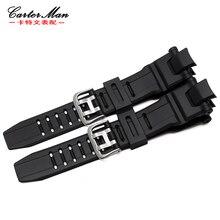 Silicone Strap 28*15mm For Casio GW-4000/GA-1000/GW-A1000/GW-A1100/G-1400