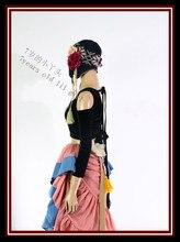 Вельветовый Топ с длинным рукавом для танца живота