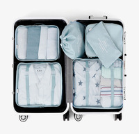 High Quality 6PCS Set Polyester Travel Bag Packing Cubes Gament Bag Waterproof Portable Suitcases And Travel