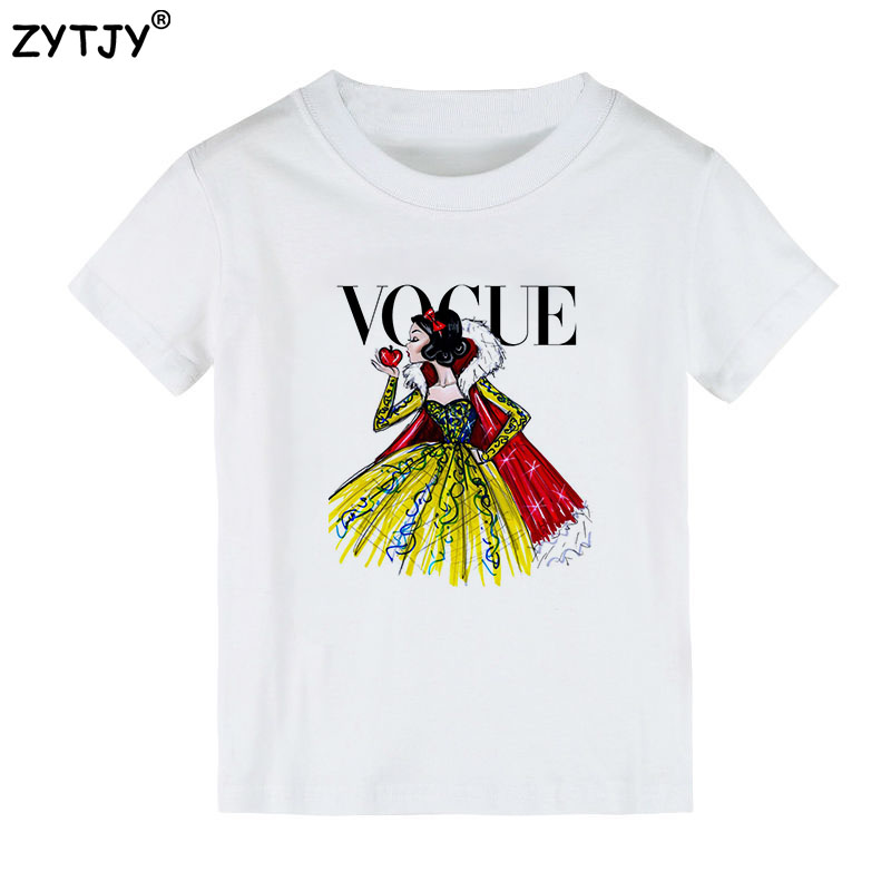 Tattoo vogue princess print kids t shirt boy girl shirt for Toddler t shirt printing