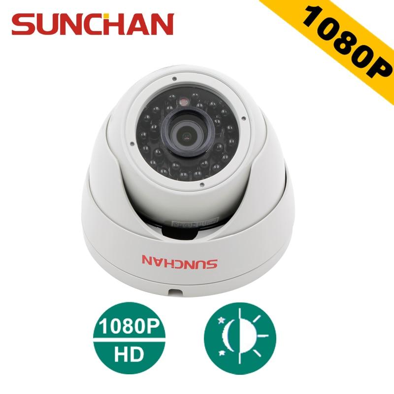 SUNCHAN 1/3'' SONY Color CMOS Sensor AHDH 1080P AHD Camera Indoor Dome Security Camera AHD 1080P Indoor Security Cameras