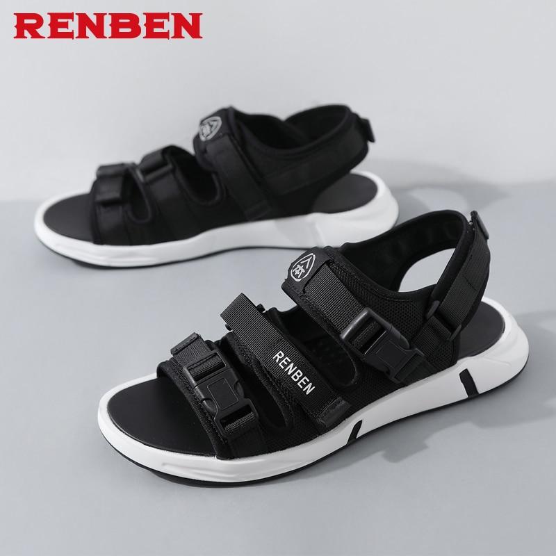 Men fashion sandals new fashion hook-loop sandals men casual shoes comfortable light flats zapatos size 39-43