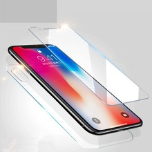 цена на 9H Front Cover Tempered Glass 5S 5 SE 7Plus 4S For iphone XS MAX X 6S 7 8 Plus 8plus front and back Screen protector Protective