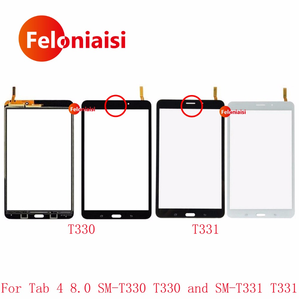 8.0 For Samsung Galaxy Tab 4 8.0 SM-T330 T330 and SM-T331 T331 Touch Screen Digitizer Sensor Front Outer Glass Lens Panel