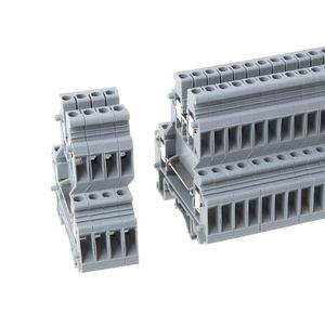Image 4 - 50 adet UKK3 DIN ray çift seviye çift sıralı Terminal bloğu 500V 25A 28 12AWG gri