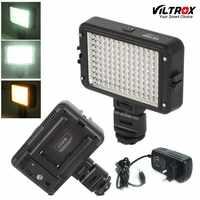 Viltrox LL-126VB LED Luce Video della Macchina Fotografica di Illuminazione 5400K HA CONDOTTO LA Lampada + DC Adattatore per la Macchina Fotografica Facebook YouTube