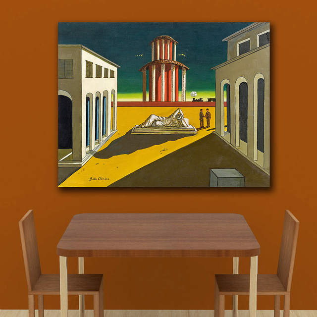 Giorgio de chirico piazza ditalia 1964 Canvas Painting For Living Room Home Decoration Oil Painting On Canvas Wall Painting 1