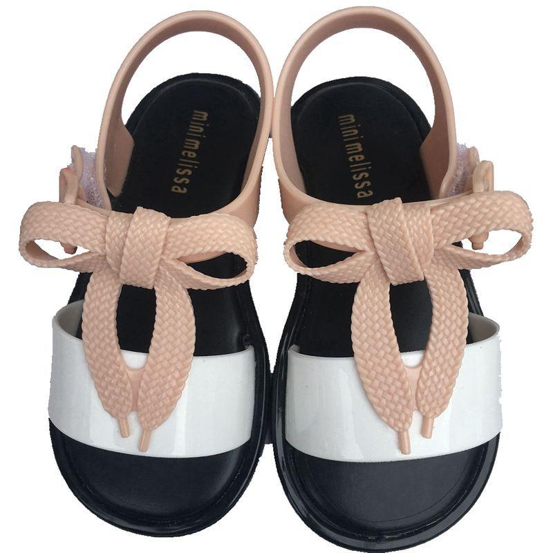Mini Mar Sandal Bb Bow Matching Color Childrens Sandals 2019 New PVC Girls Toddler