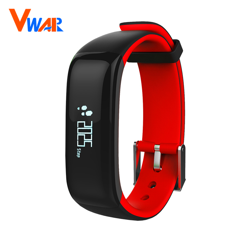 Vwar P1 Bluetooth 4.0 Smart Wristband Blood Pressure Monitor Wearable Heart Rate