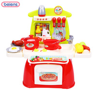 23pcs Set Kid Miniature Kitchen Toys For Children Pretend Play Food Processor Toy Girl Educational Cooking