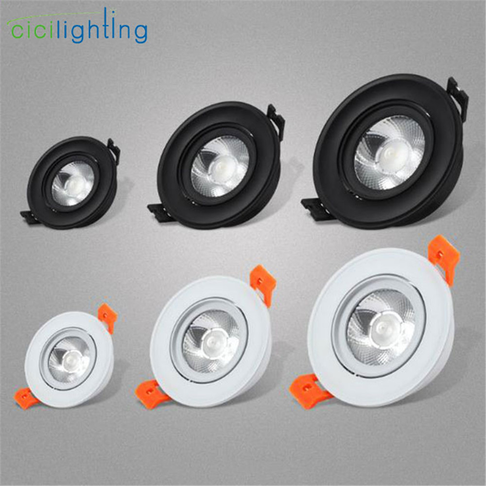 Industrial Ultra Thin Led Downlight,black White 3W 5W 7W
