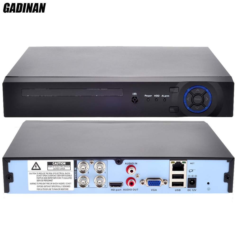 GADINAN Mini Home CCTV AHD 4CH AHD-NH 1080N DVR 4 Channel Standalone CCTV DVR HDMI Output P2P Cloud Mobile Phone View ONVIF 960H new home nh 5632