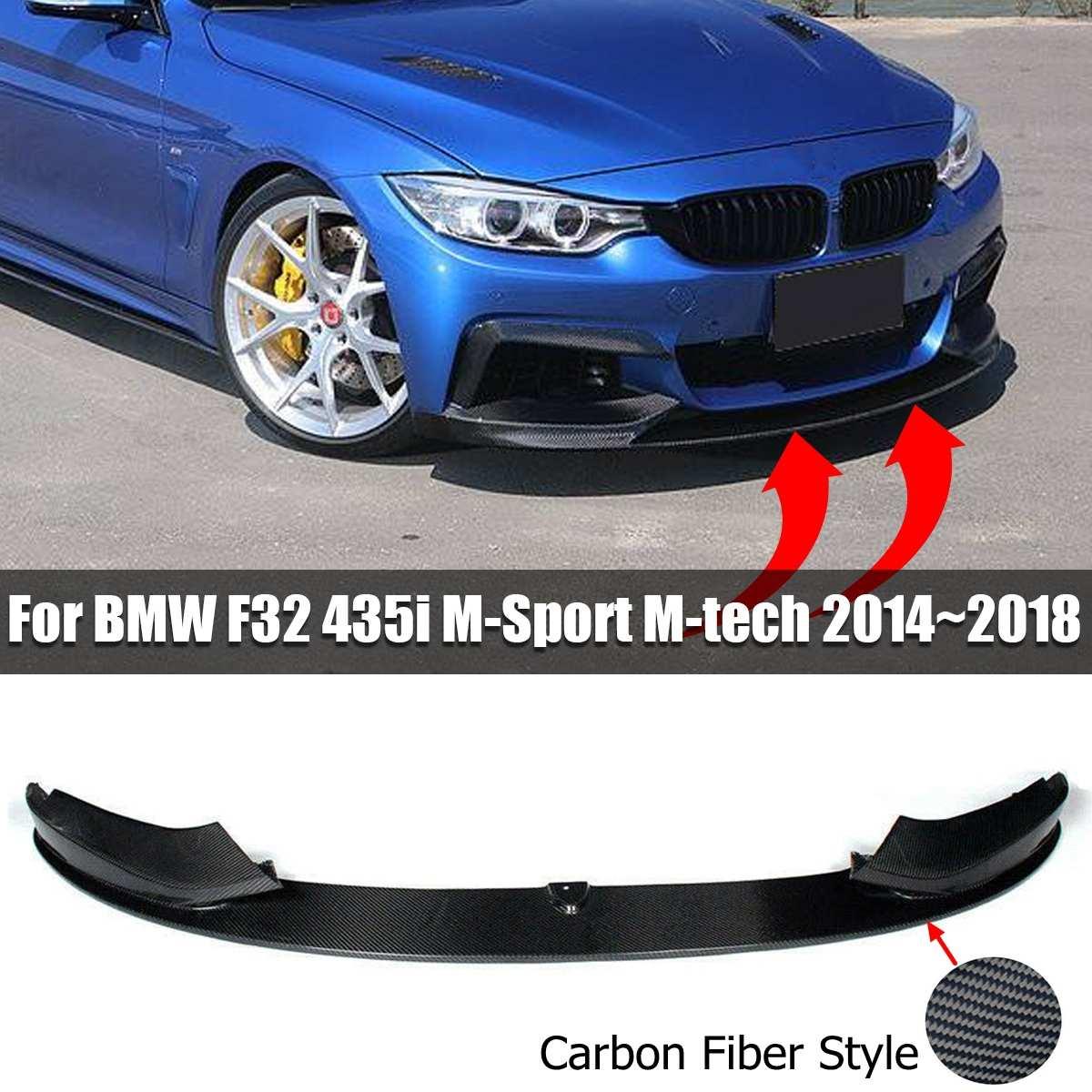 Nouvelle voiture pare-chocs avant lèvre Spoiler Splitters Fiber de carbone noir lèvre menton Spoiler pour BMW F32 435i M Sport M tech 2014-2018