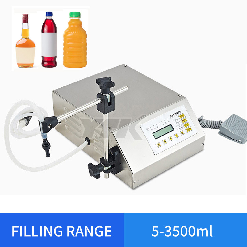 YTK 5 3500ml Water Softdrink Liquid Filling Machine Digital Control GFK160 Water Oil Perfume Milk Small Bottle Filler