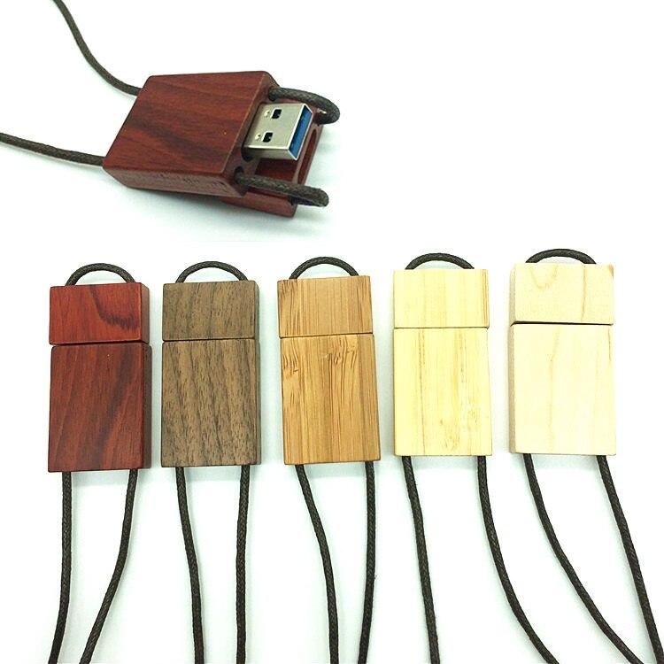 High Speed USB 3.0 flash drive wooden pendrive 64GB 32GB 16GB 8GB 4GB magnet usb stick memory USB Lanyard pen drive GIFT