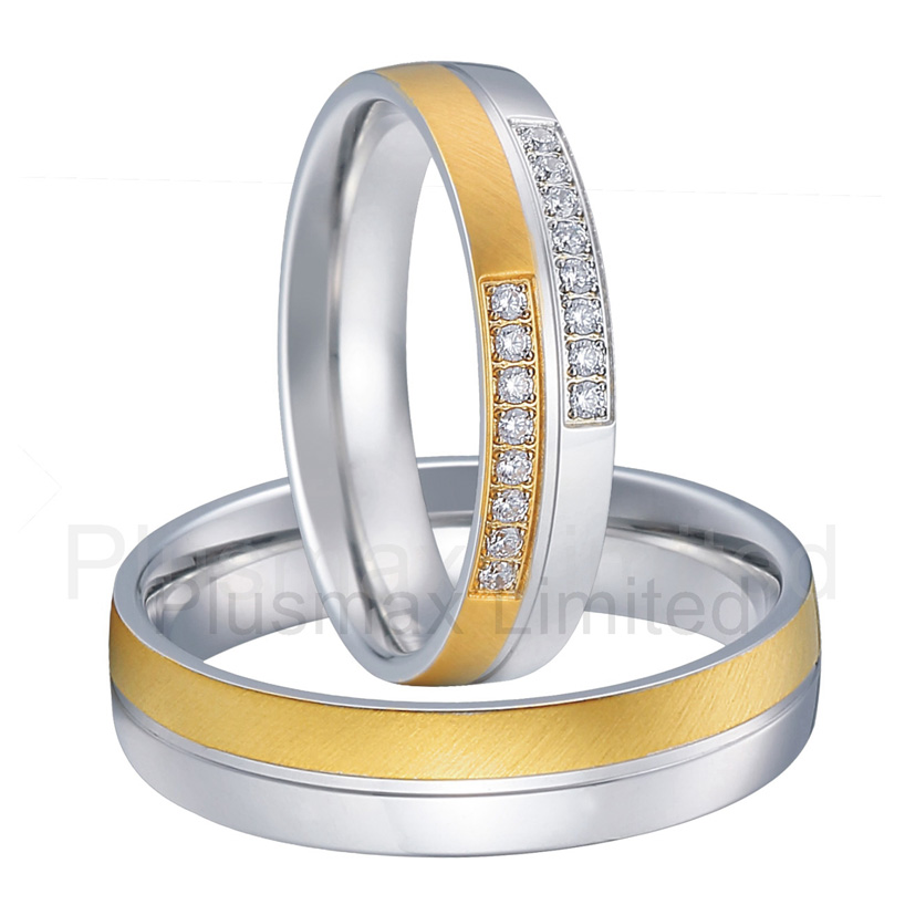 Best China jewelry factory surgical grade titanium steel engagement wedding wedding rings pair