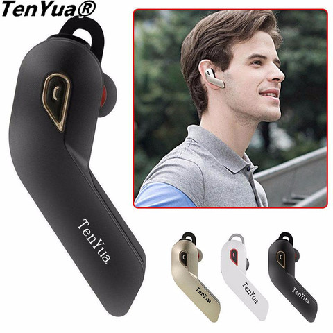 TenYua Bluetooth Wireless Headsets V4.1 Stereo Car Business Handfree Phone Earphone CVC6.0 Noise Cancelling with Mic for iPhone Pakistan