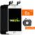 1 pcs boa qualidade para iphone 6 s display lcd com tela de toque digitador assembléia substituição branco preto + suporte da câmera