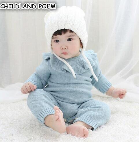 вязаный детский комбинезон одежда для новорожденных весна детские