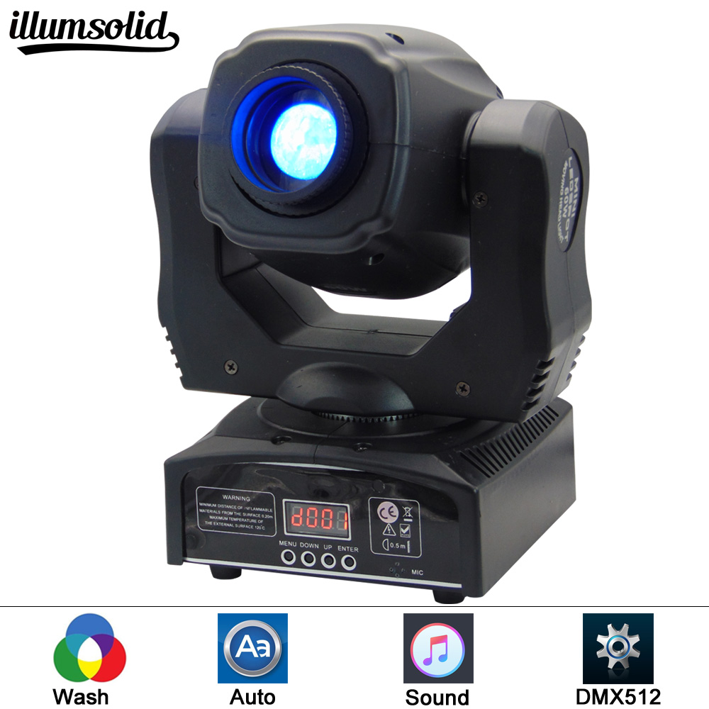 LED Inno Pocket Spot Mini Moving Head Light 60W DMX dj 7 gobos effect stage lights цена
