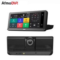 Tekbow 3 in 1 4G 8Inch Dash Cam ADAS Car DVR Camera Android 5.1 GPS Rear View Camera Car Recorder dvr Auto Mirror Radar Detector