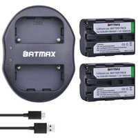 2Pcs 1800mAh NP-FM500H NP FM500H Camera Battery + USB Dual Charger for Sony A57 A65 A77 A99 A350 A550 A580 A900 Camera Batteries