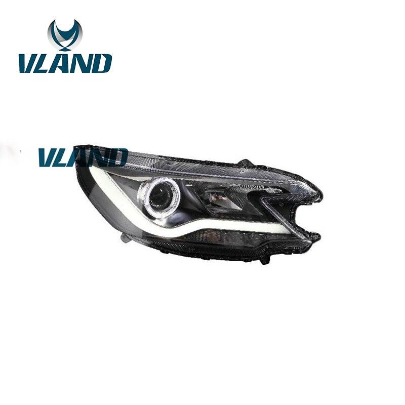 VLAND фабрики для головы свет для CRV светодиодный фар с Ангельские глазки и H7 ксеноновая лампа 2012 2013 2014 2015 светодиодный фара