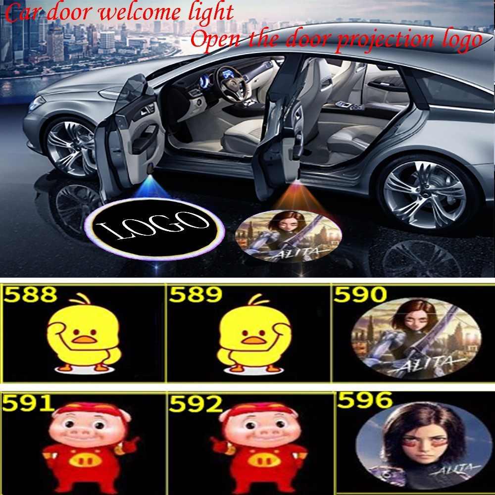 Фото Maxup 2шт автомобильные дверные Фары Логотип светодиодное проекционное освещение