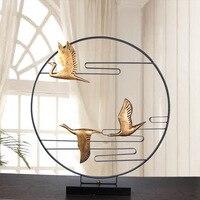 Дикие гуси летят в Южную Birds Элегантный Zen украшения Традиционный китайский дом украшения модели аксессуары Специальный декор дома